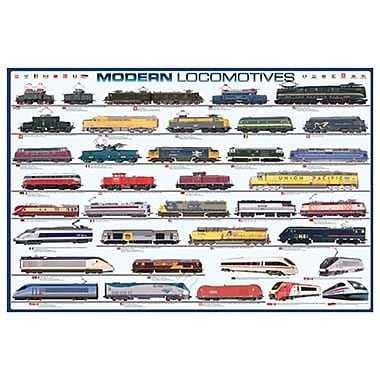Locomotives modernes, toile tendue, 24 x 36 po