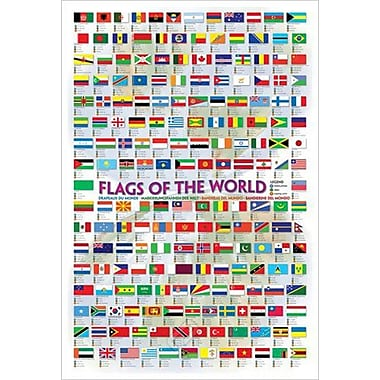 Flags of the World 2008, Stretched Canvas, 24