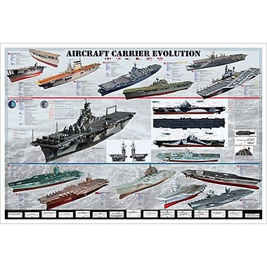 Aircraft Carrier Evolution, Stretched Canvas, 24