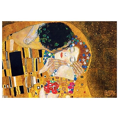 The Kiss detail 2 by Klimt, Canvas, 24