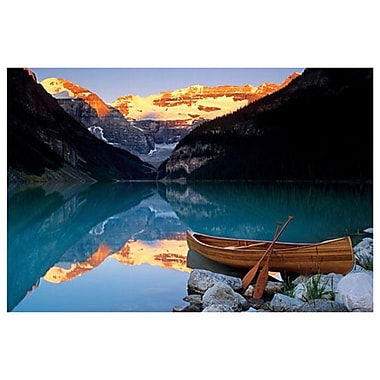 Canoe On Lake Louise, Stretched Canvas, 24