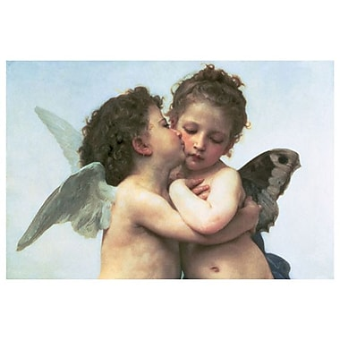 First Kiss by Bouguereau, Canvas, 24