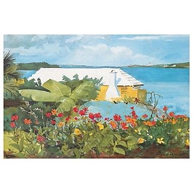 Garden and Bungalow de Homer, toile, 24 x 36 po