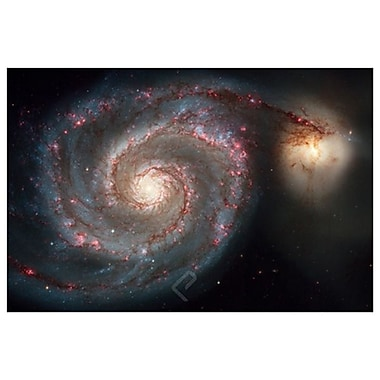 NASA - Whirlpool Galaxy, Stretched Canvas, 24