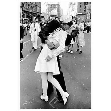 Kissing on VJ Day by Eisenstaedt, Canvas, 24