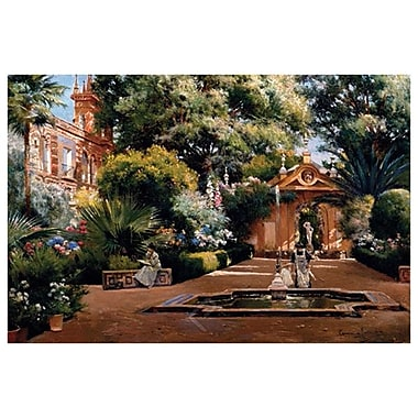 Garden in Seville by Rodriguez, Canvas, 24