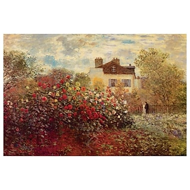 Garden at Argenteuil by Monet, Canvas, 24