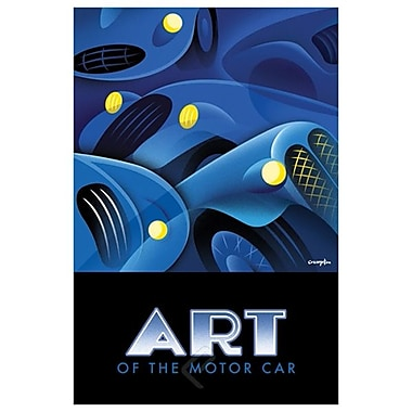 Art of Motor Car 1 de Crampton, toile, 24 x 36 po