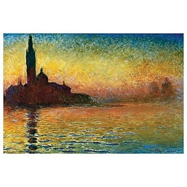 Saint-Georges-Majeur au crépuscule de Monet, toile, 24 x 36 po