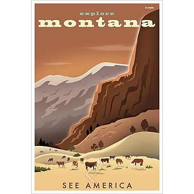 Explore Montana by Crampton, Canvas, 24