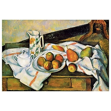 Sucrier Fruits by Cezanne, Canvas, 24