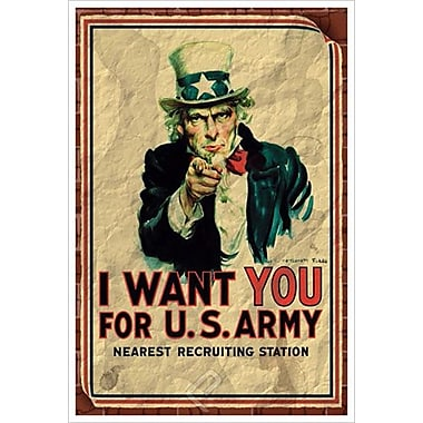 Uncle Sam Vintage, Stretched Canvas, 24