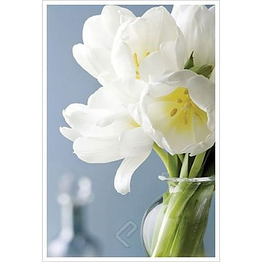 White Tulips Bouquet by Zalewski, Canvas, 24