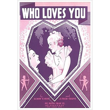 « Who Loves You » de Miska par Song, toile tendue, 24 x 36 po