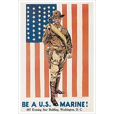 Be A U.S. Marine by Flagg, Canvas, 24