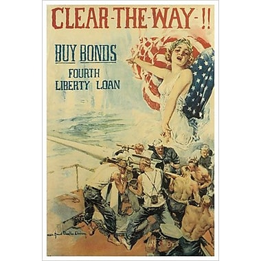 « Clear The Way » par Christy, toile, 24 x 36 po