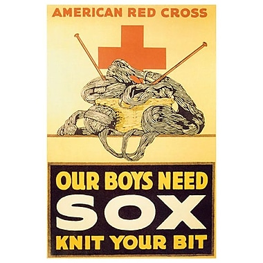« Our Boys Need Sox », toile tendue, 24 x 36 po