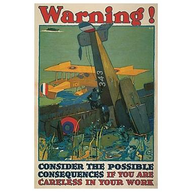 « Careless In Your Work » par Britton, toile, 24 x 36 po