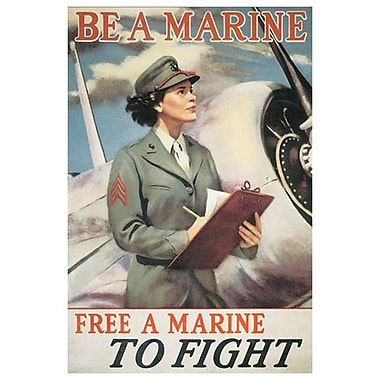 Be A Marine - Free A Marine, Stretched Canvas, 24