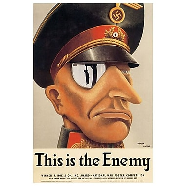 « This Is The Enemy » par Koehler, toile, 24 x 36 po
