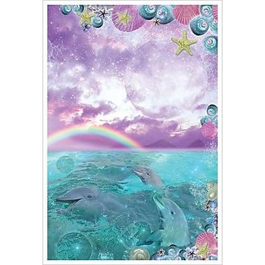 Dauphins dans la mer par Mullins, toile, 24 x 36 po