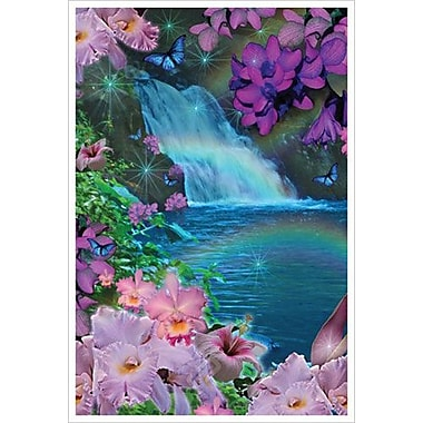Oahu Waterfall Day by Mullins, Canvas, 24