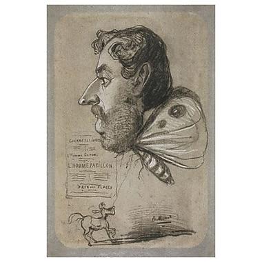 Caricature de Jules Didier par Monet, toile, 24 x 36 po