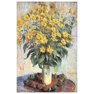 Fleurs de topinambour par Monet, toile, 24 x 36 po