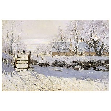 Magpie Snow Effect by Monet, Canvas, 24