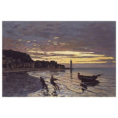 Towing A Boat Honfleur by Monet, Canvas, 24