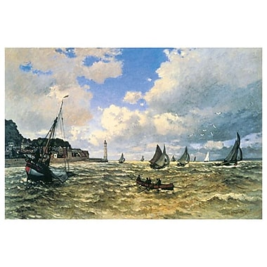Mouth Seine Honfleur by Monet, Canvas, 24