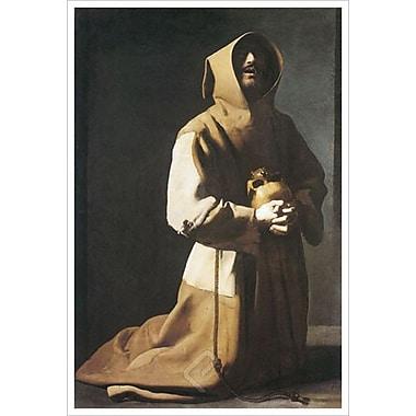St. Francis Kneeling by De Zurbaran, 24