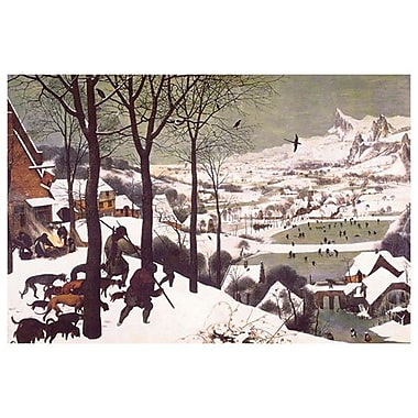 Hunters In The Snow by Bruegel, Canvas, 24