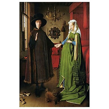 Marriage Arnolfini by Van Eyck, Canvas, 24