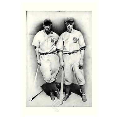 DiMaggio & Gehrig by Friedlander, Canvas, 24