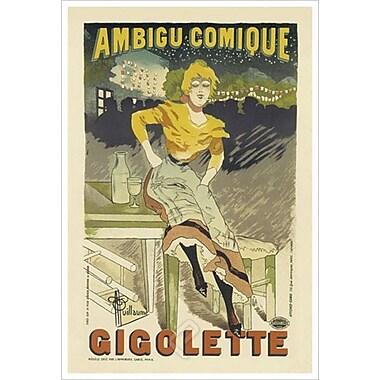 Gigolette de Guillaume, toile, 24 x 36 po
