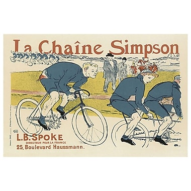 Simpson Bicycle Chain by Lautrec, Canvas, 24
