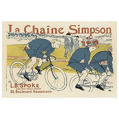 La chaîne Simpson de Lautrec, toile, 24 x 36 po