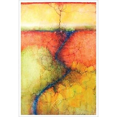 Terre accueillante 1 par Wang, toile, 24 x 36 po