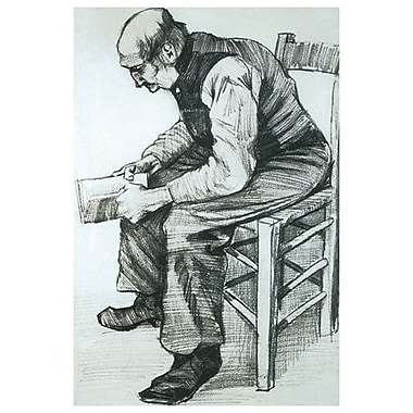 Man Reading The Bible by Van Gogh, Canvas, 24