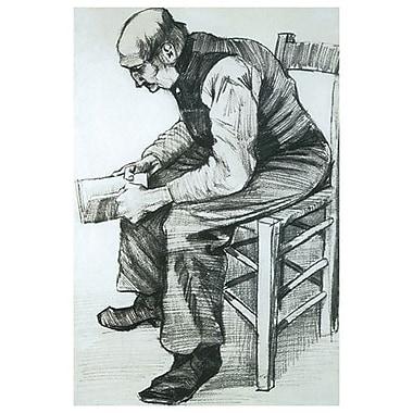 Homme lisant la Bible par Van Gogh, toile, 24 x 36 po