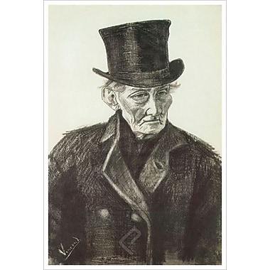 L'homme orphelin au chapeau de Van Gogh, toile, 24 x 36 po