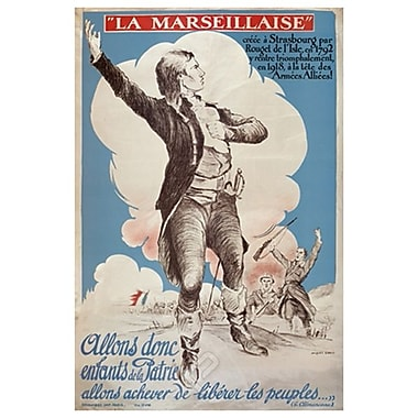 La Marseillaise by Carlu, Canvas, 24