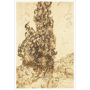 Cypresses par Van Gogh, toile, 24 x 36 po