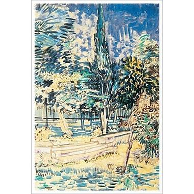 Marches de pierres au jardin d'Asylum par Van Gogh, toile, 24 x 36 po