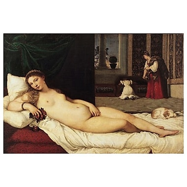 Venus Of Urbino by Titian, Canvas, 24
