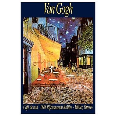 Terrasse du café le soir de Van Gogh, toile, 24 x 36 po