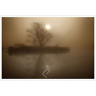 Foggy Island Sepia by Magus, Canvas, 24