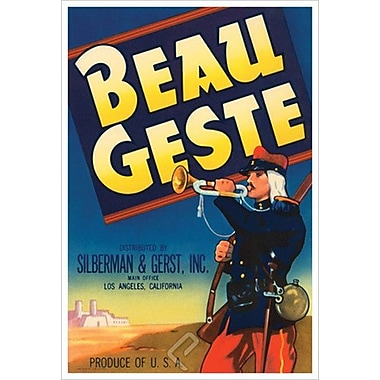 Beau Geste, Stretched Canvas, 24