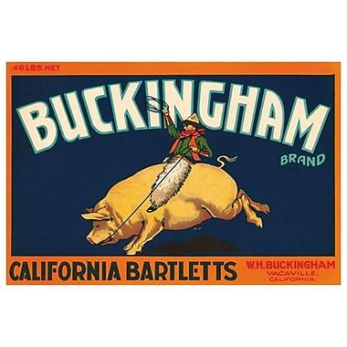 Buckingham California Bartlett, Stretched Canvas, 24